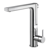 Ascend Integrated Pull Up Kitchen Faucet in Polished Chrome, Faucet Height: 11-7/16'' H, Spout Reach: 8-1/4'' D, Spout Height: 10-1/4'' H