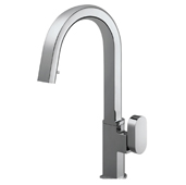 Azura Pull Down Kitchen Faucet with Concealed Hand Spray in Polished Chrome, Faucet Height: 15-3/4'' H, Spout Reach: 7-15/16'' D, Spout Height: 10-1/16'' H