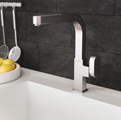 Azura Pull Out Kitchen Faucet in Brushed Nickel, Faucet Height: 12-5/16'' H, Spout Reach: 9-1/4'' D, Spout Height: 11-1/8'' H