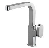 Azura Pull Out Kitchen Faucet in Polished Chrome, Faucet Height: 12-5/16'' H, Spout Reach: 9-1/4'' D, Spout Height: 11-1/8'' H