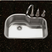 Belleo Series Topmount Offset Single Bowl Kitchen Sink with Beveled Edge in Stainless Steel, 31-1/2''W x 21'' D, 9'' Bowl Depth