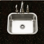 Belleo Series Topmount Single Bowl Kitchen Sink with Beveled Edge in Stainless Steel, 23-3/16''W x 17-15/16'' D, 9'' Bowl Depth