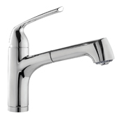 Calia Pull Out Bar Faucet in Polished Chrome, Faucet Height: 10-5/16'' H, Spout Reach: 8-3/4'' D, Spout Height: 5'' H
