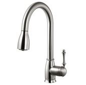 Camden Pull Down Kitchen Faucet in Brushed Nickel, Faucet Height: 15-13/16'' H, Spout Reach: 8-9/16'' D, Spout Height: 7-13/16'' H