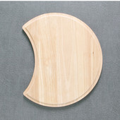 Eclipsed-Shaped Cutting Board, 16-1/8'' Dia x 3/4'' H