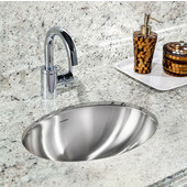 Opus Series Undermount Lavatory Oval Sink in Stainless Steel