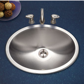 Opus Series Oval Topmount Sink with Overflow in Stainless Steel, Fits 24 sink base