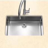 Savior Series 10mm Radius Undermount Kitchen Large Single Bowl in Brushed Satin Stainless Steel, 23''W x 18'' D, 10'' Bowl Depth