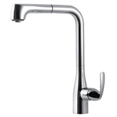 Cora Tall Pull Out Kitchen Faucet in Polished Chrome, Faucet Height: 13-1/16'' H, Spout Reach: 9-5/8'' D, Spout Height: 10-3/4'' H
