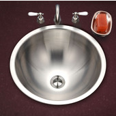 Opus Series Topmount Lavatory Conical Sink in Stainless Steel