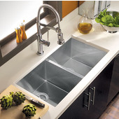 Contempo Stainless 50/50 Double Bowl Sink