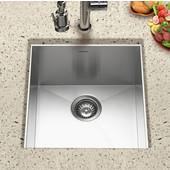 Contempo Zero Radius Stainless Steel Prep Sink, 17''W x 18''D x 10''H