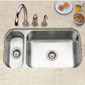 Elite Series 80/20 Undermount Double Bowl Sink