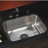- Elite Series Undermount Single Bowl Sink, 23-3/16''W x 17-15/16''D x 8''H