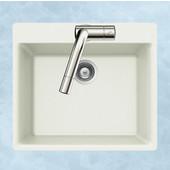 Quartztone Granite Topmount Single Bowl in Cloud Color, 23-5/8''W x 20'' D, 7-7/8'' Bowl Depth
