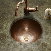Hammerwerks Baby Round Flat Lip Sink, 12'' dia x 5''H, Antique Copper
