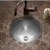 Hammerwerks Baby Round Flat lip sink, 12'' dia x 5''H, Lustrous Pewter