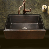 Hammerwerks Copper Kitchen Single Bowl Kitchen Sink