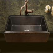 Hammerwerks Copper Kitchen Single Bowl Kitchen Sink