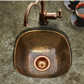 Hammerwerks Lager Bar Prep Sink in Antique Copper, 16''W x 16''D x 6''H