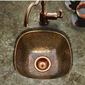 Hammerwerks Lager Bar Prep Sink in Antique Copper, 16''W x 16''D x 6''H
