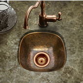 Hammerwerks Schnapps Bar Prep Sink in Antique Copper, 12-1/2'' W x 12-1/2'' D x 4-1/2'' Bowl Depth