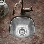 Hammerwerks Schnapps Bar Prep Sink in Lustrous Pewter, 12-1/2'' W x 12-1/2'' D x 4-1/2'' Bowl Depth