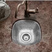 Hammerwerks Schnapps Bar Prep Sink in Lustrous Pewter, 12''W x 12''D x 6''H
