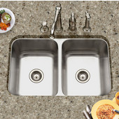 Medallion Gourmet Series 50/50 Undermount Double Bowl