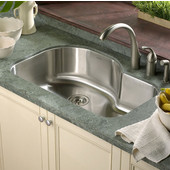 Medallion Designer Series Offset Single Bowl sink