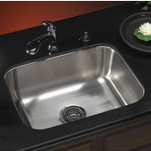 Medallion Classic Series Undermount Single Bowl Sink, 23-3/16''W x 17-15/16''D x 9''H