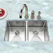 - Undermount 50/50 Double Bowl Kitchen Sink