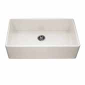 Platus Series Fireclay Apron Front or Undermount Single Bowl Kitchen Sink, Biscuit Finish, 36''W x 20''D x 10-1/8''H