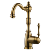 Regal Traditional Kitchen Faucet in Antique Brass, Faucet Height: 12-5/16'' H, Spout Reach: 7'' D, Spout Height: 8-5/8'' H