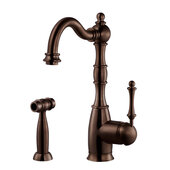 Regal Traditional Kitchen Faucet with Sidespray in Oil Rubbed Bronze, Faucet Height: 12-5/16'' H, Spout Reach: 9'' D, Spout Height: 8-5/8'' H