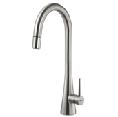 Soma Pull Down Kitchen Faucet in Brushed Nickel, Faucet Height: 17-7/8'' H, Spout Reach: 8-1/4'' D, Spout Height: 11-1/2'' H