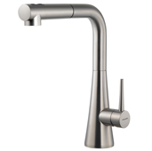 Soma Pull Out Kitchen Faucet in Brushed Nickel, Faucet Height: 12-3/16'' H, Spout Reach: 9-1/16'' D, Spout Height: 10-5/8'' H