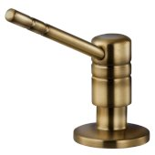 Endura II 360° Swivel Soap Dispenser in Antique Brass, Dispenser Height: 2-1/2'' H, Spout Reach: 3-9/16'' D, Spout Height: 3-9/16'' H