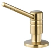 Endura II 360° Swivel Soap Dispenser in Brushed Brass, Dispenser Height: 2-1/2'' H, Spout Reach: 3-9/16'' D, Spout Height: 3-9/16'' H