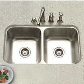Eston Series Undermount 50/50 Double Bowl Kitchen Sink