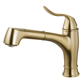 Surge Pull Out Kitchen Faucet in Brushed Brass, Faucet Height: 10-7/16'' H, Spout Reach: 10-1/8'' D, Spout Height: 6-1/8'' H