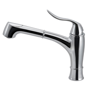 Surge Pull Out Kitchen Faucet in Polished Chrome, Faucet Height: 10-7/16'' H, Spout Reach: 10-1/8'' D, Spout Height: 6-1/8'' H