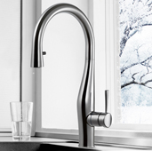 Vision Pull Down Kitchen Faucet with Concealed Hand Spray in Polished Chrome, Faucet Height: 17-1/16'' H, Spout Reach: 8-3/8'' D, Spout Height: 9-9/16'' H