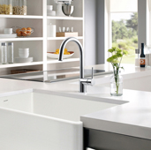 Vitale Pull Down Bar Faucet in Brushed Nickel, Faucet Height: 11-13/16'' H, Spout Reach: 6-3/4'' D, Spout Height: 7-3/4'' H