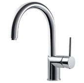 Vitale Pull Down Bar Faucet in Polished Chrome, Faucet Height: 11-13/16'' H, Spout Reach: 6-3/4'' D, Spout Height: 7-3/4'' H