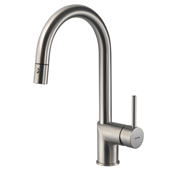 Vitale Pull Down Kitchen Faucet in Brushed Nickel, Faucet Height: 15-1/16'' H, Spout Reach: 8-1/4'' D, Spout Height: 8-5/8'' H