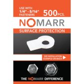 NoMarr Surface Protectors, Pack of 500 (1/4'') in White, 1-1/4'' W x 3/4'' D x 1/8'' H