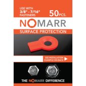 NoMarr Surface Protectors, Pack of 50 (3/8'') in Red, 1-5/8'' W x 1-1/8'' D x 1/8'' H