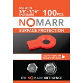 NoMarr Surface Protectors, Pack of 100 (3/8'') in Red, 1-5/8'' W x 1-1/8'' D x 1/8'' H
