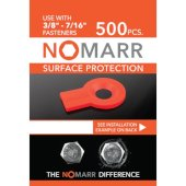 NoMarr Surface Protectors, Pack of 500 (3/8'') in Red, 1-5/8'' W x 1-1/8'' D x 1/8'' H